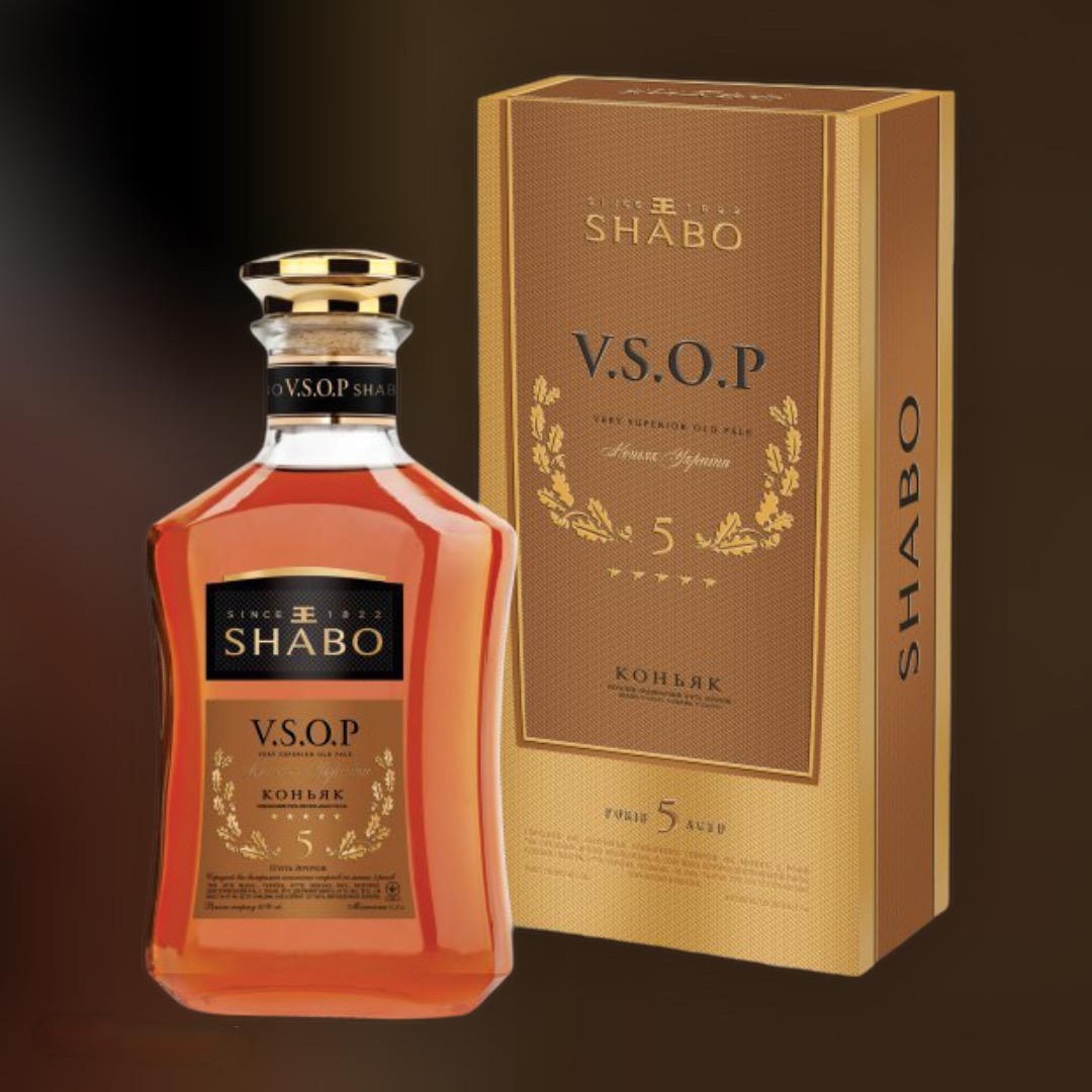 Бренді Shabo V.S.O.P. 40% в подарунковій упаковці 0,5 л