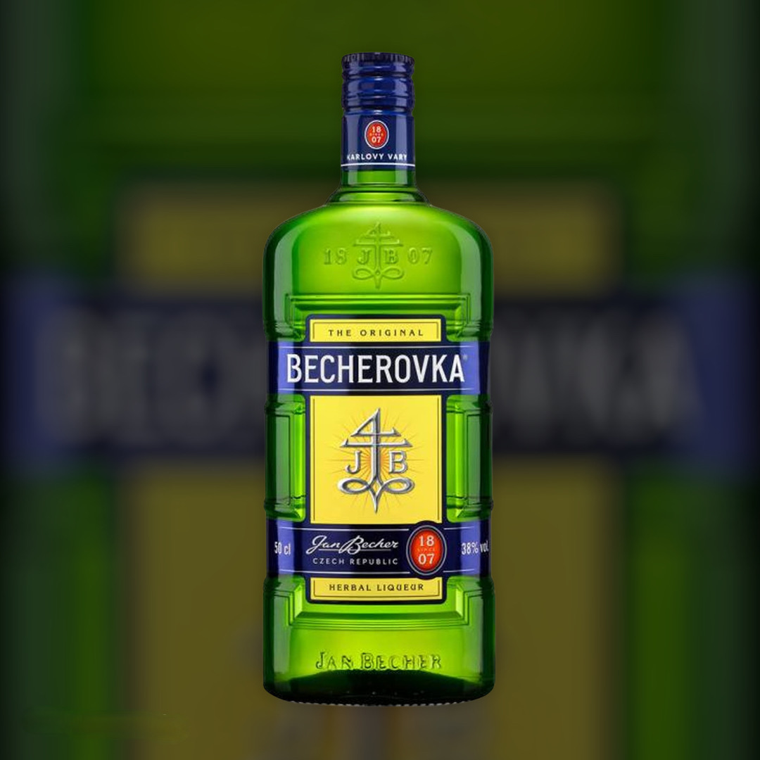 Лікерна настоянка на травах Becherovka 38% 1 л