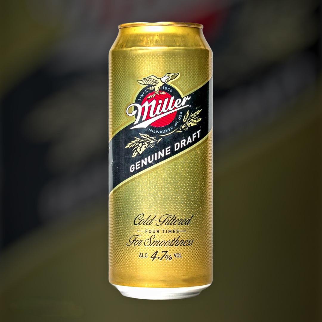 Пиво Miller Genuine Draft світле фільтроване 4.4% 0,5 л
