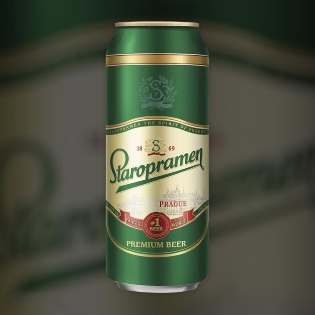 Пиво Staropramen світле фільтроване 5% 0,5 л