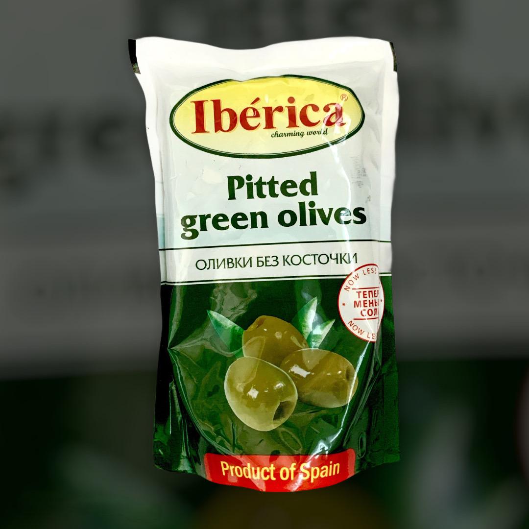 Оливки зелені без кісточки Iberica 170 г