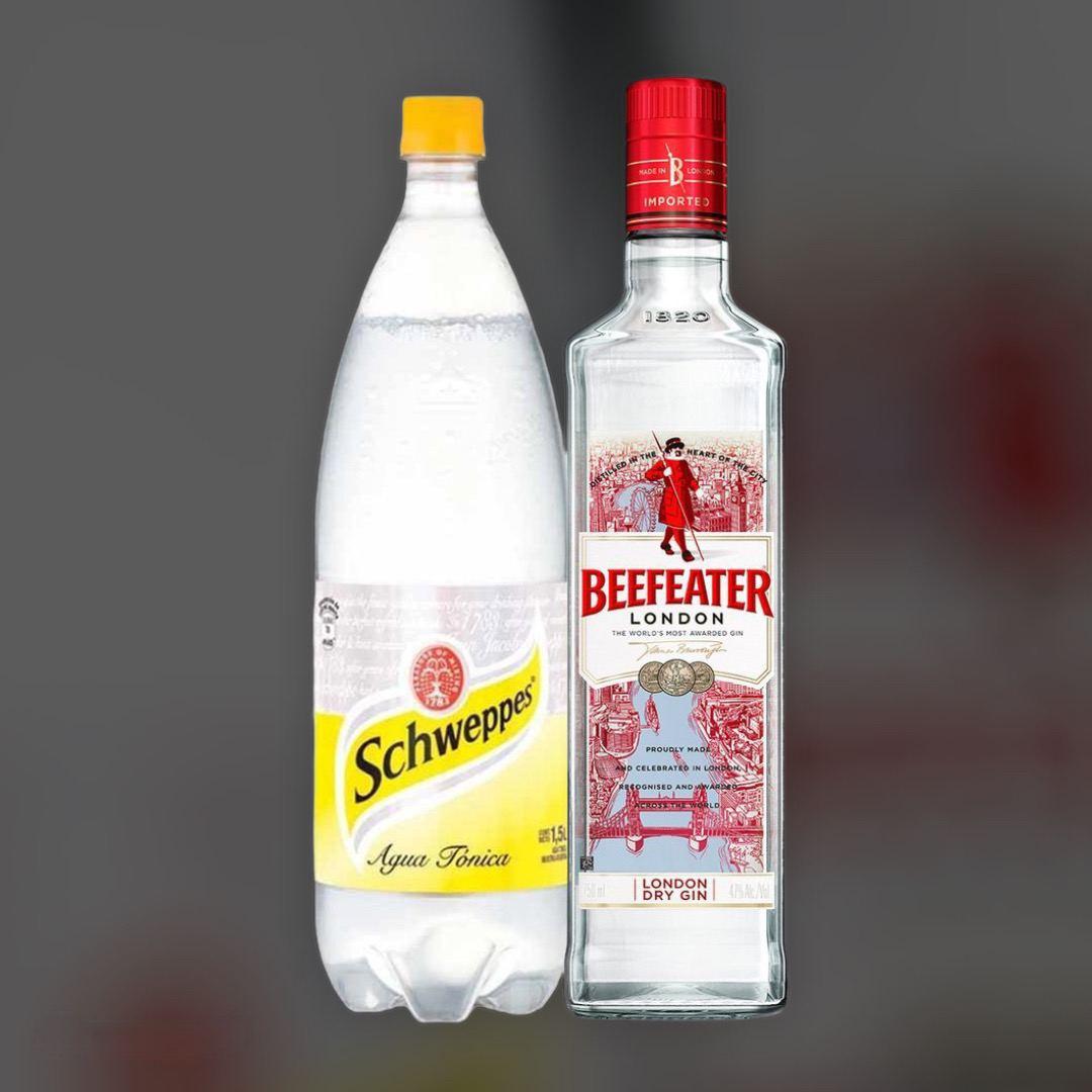 Набір Джин Beefeater + Schweppes Tonic 0,5л+1л
