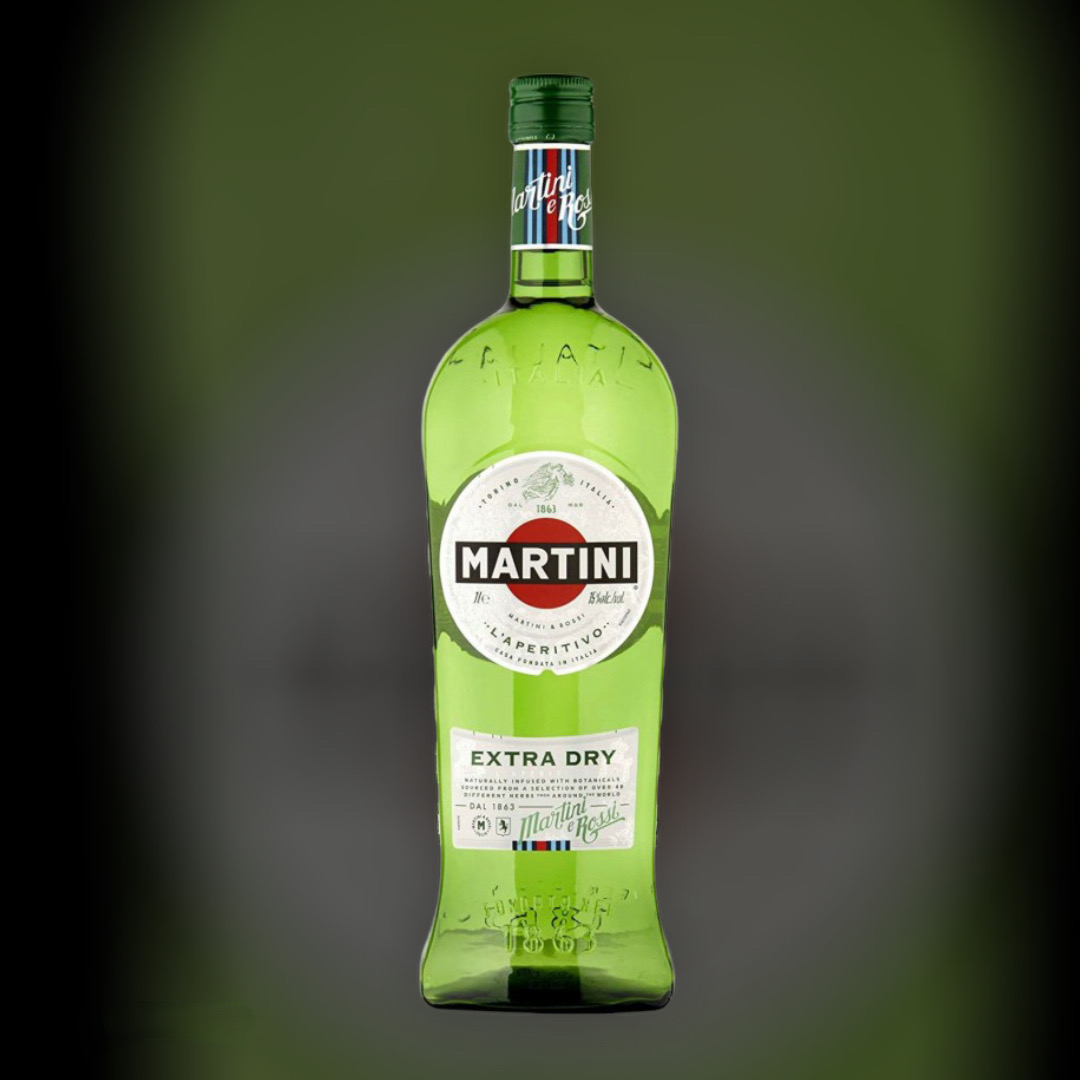 Вермут Martini Extra Dry, біле сухе 18% 0,5 л