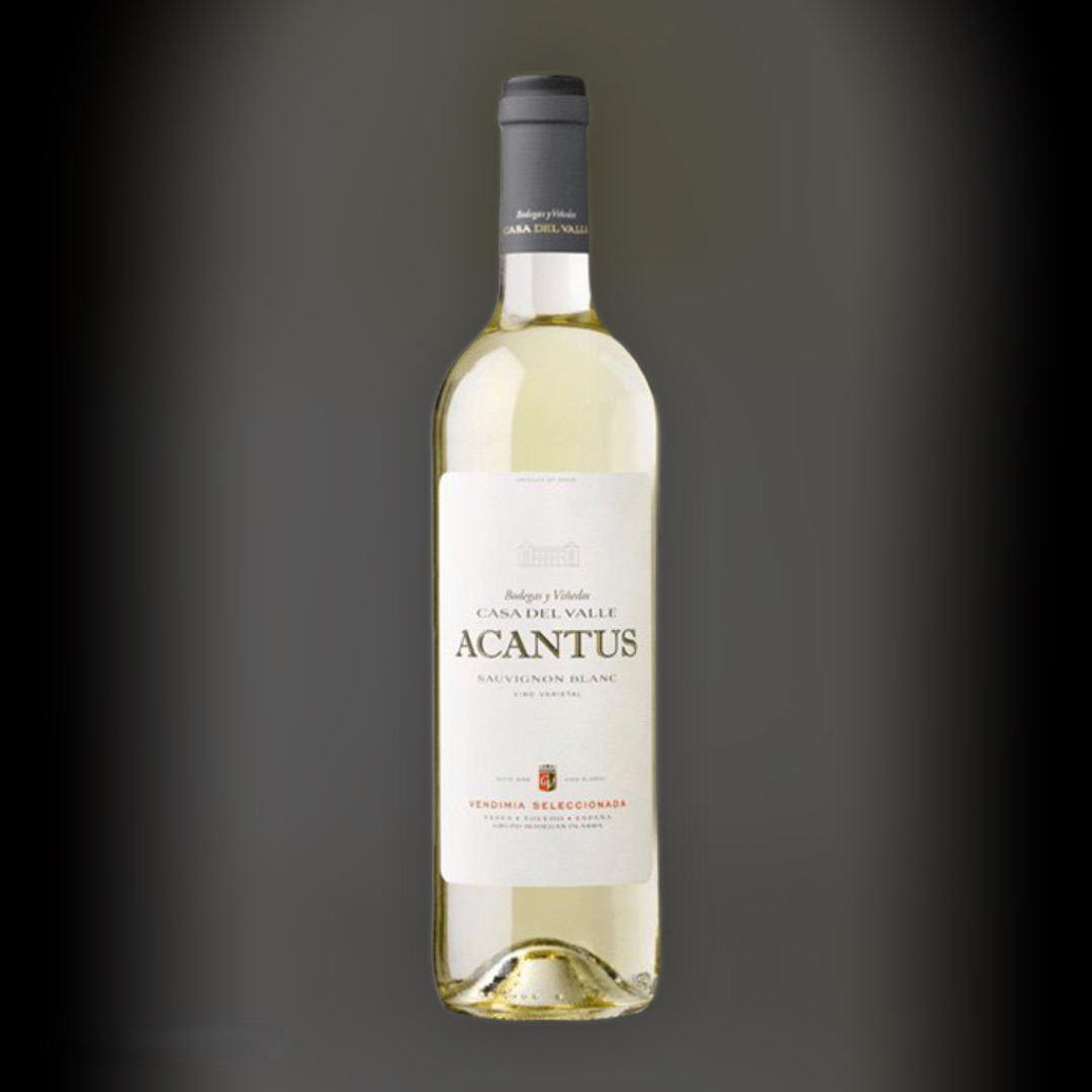 Вино Acantus Sauvignon Blanc біле сухе 11,5% Іспанія 0,75 л