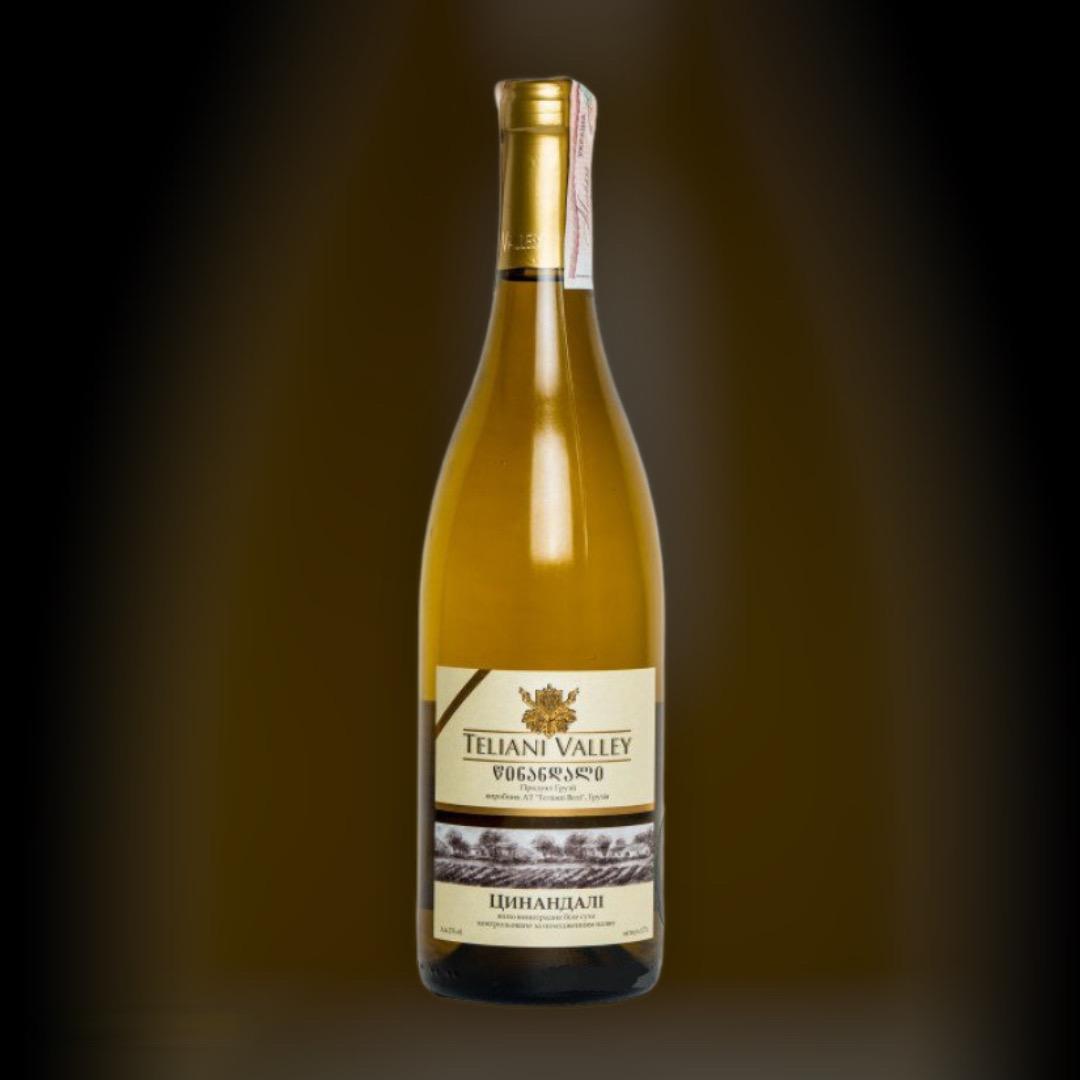 Вино Teliani Valley Цинандалі біле сухе 12.5% Грузія 0,75 л
