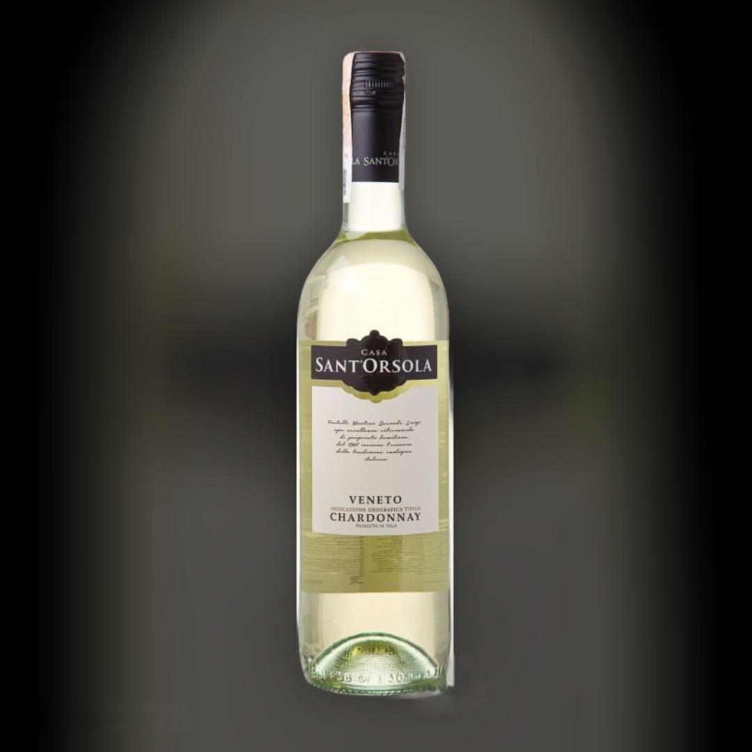 Вино SantOrsola Chardonnay біле сухе 12% Італія 0,75 л