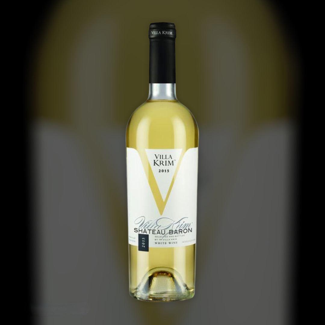 Вино Villa Krim Шато Барон біле напівсолодке 10-13% Україна 0,75 л