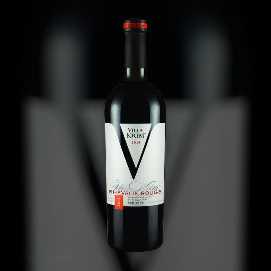 Вино Villa Krim Шевальє Руж червоне напівсолодке 10-13% Україна 0,75 л
