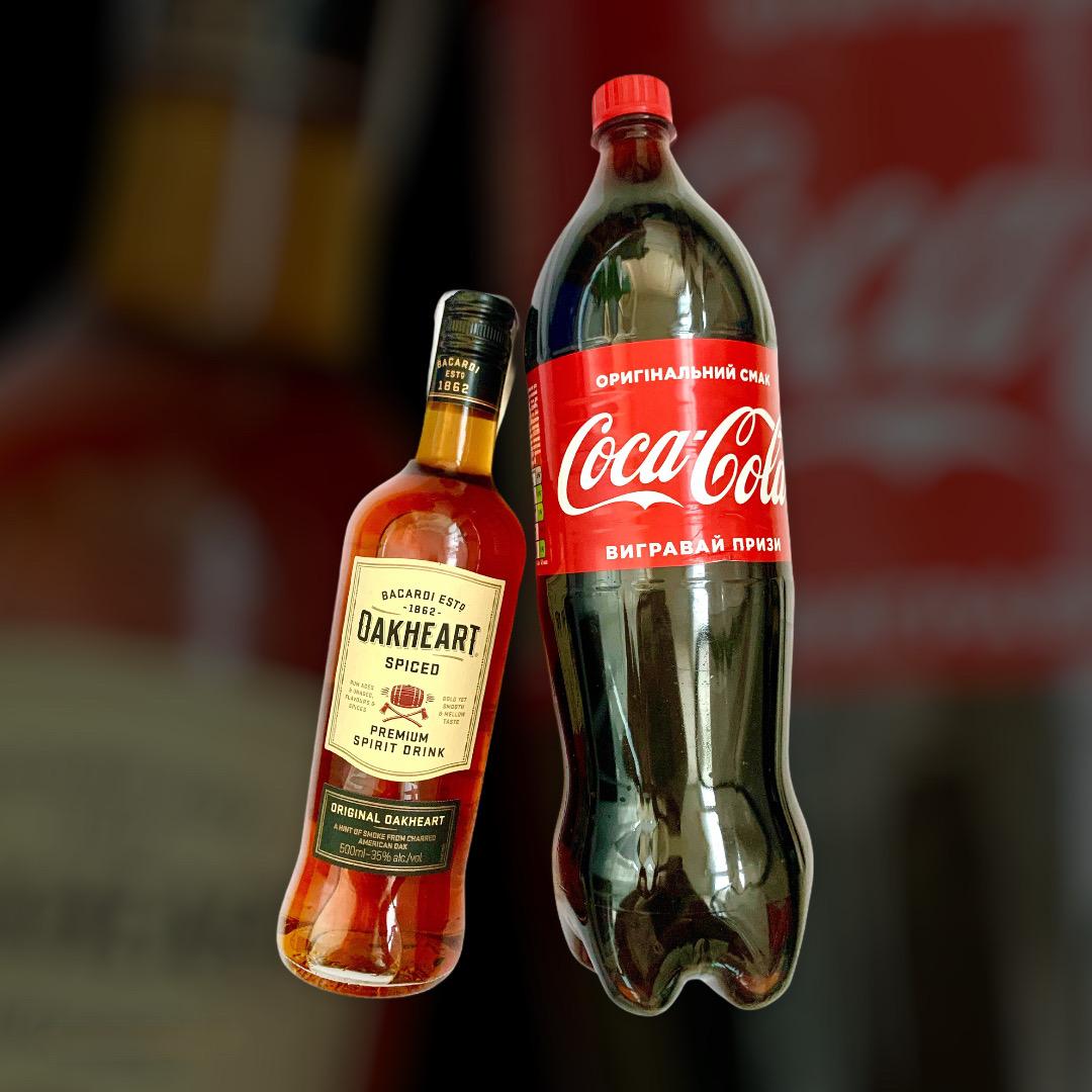 Набір Ром OakHeart + Coca-Cola 0,5л+1,5л