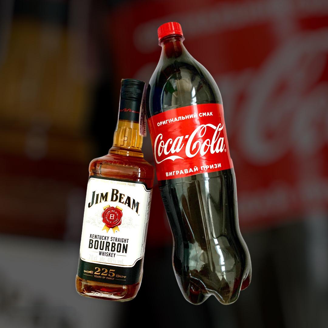 Набір Віскі Jim Beam + Coca-Cola 0,7л+1,5л